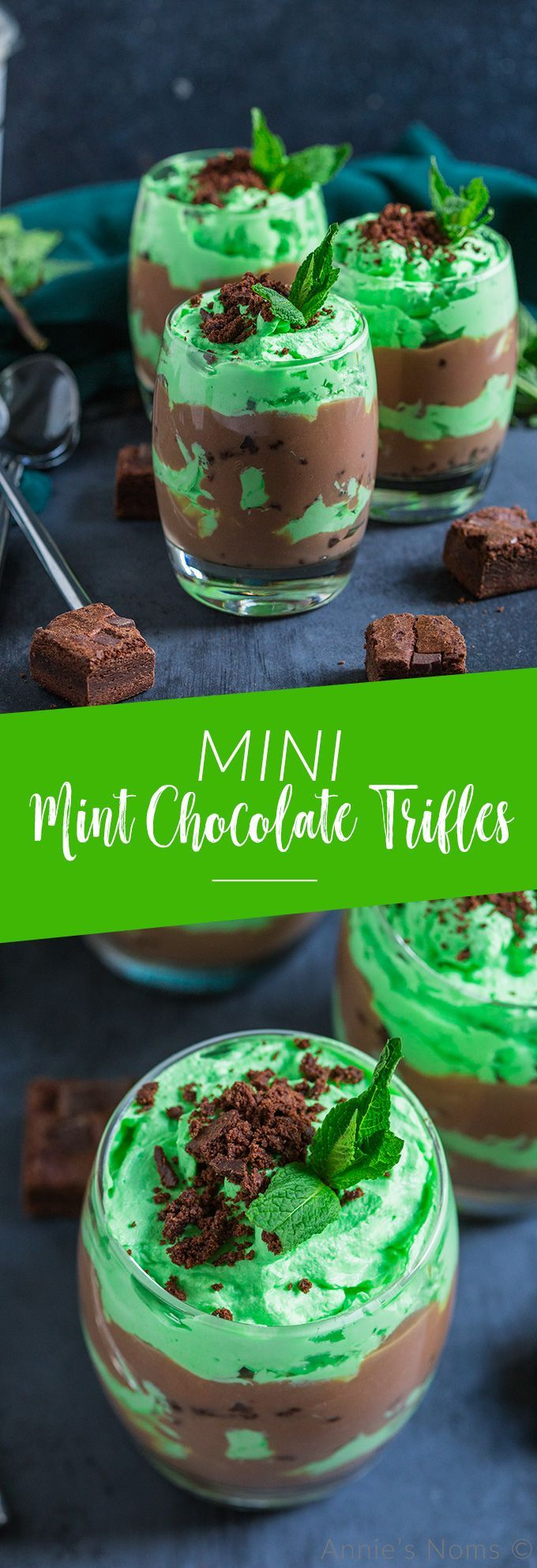 Mini Mint Chocolate Trifles  - Sides & Sweets! -
