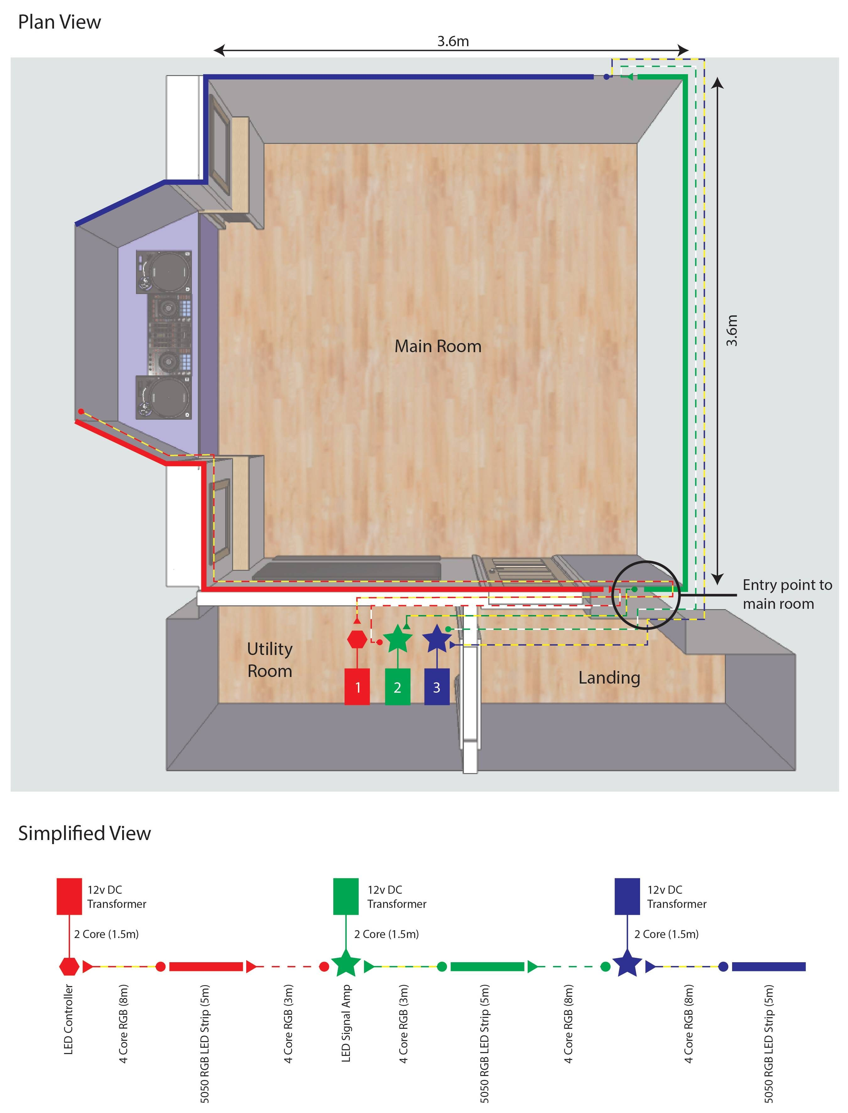 hight resolution of how to wire rgb strip light extra wire 16 awg strip light google search