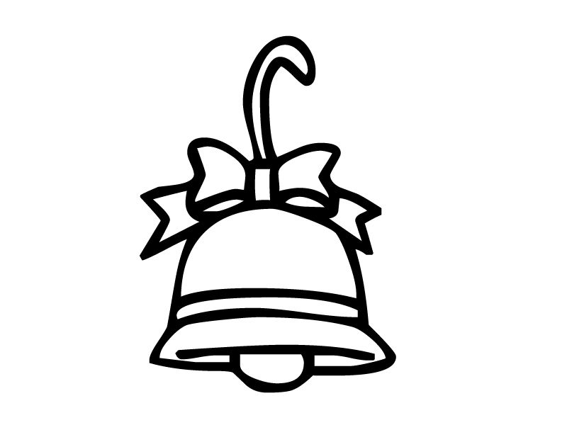 Bell Coloring Pages For Kids Christmas