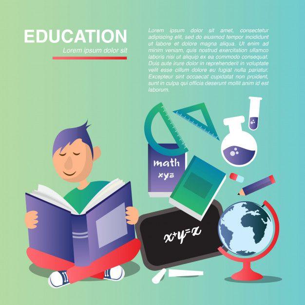 Education vector flat design Premium Vector | Free Vector #Freepik #vector #free…