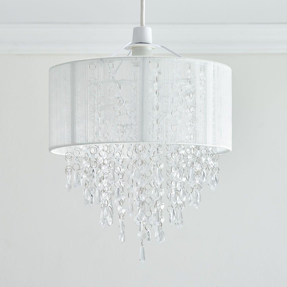 35 X 30cm White Ritz Pendant Light Shade Bedroom Lamps Design