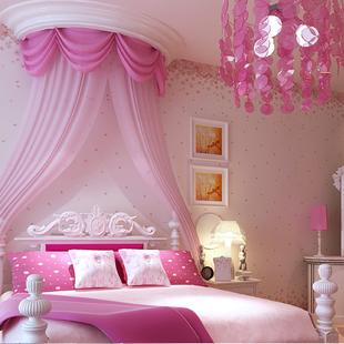 Non Woven Wallpaper Rustic Child Real Girl Wallpaper Pink Purple