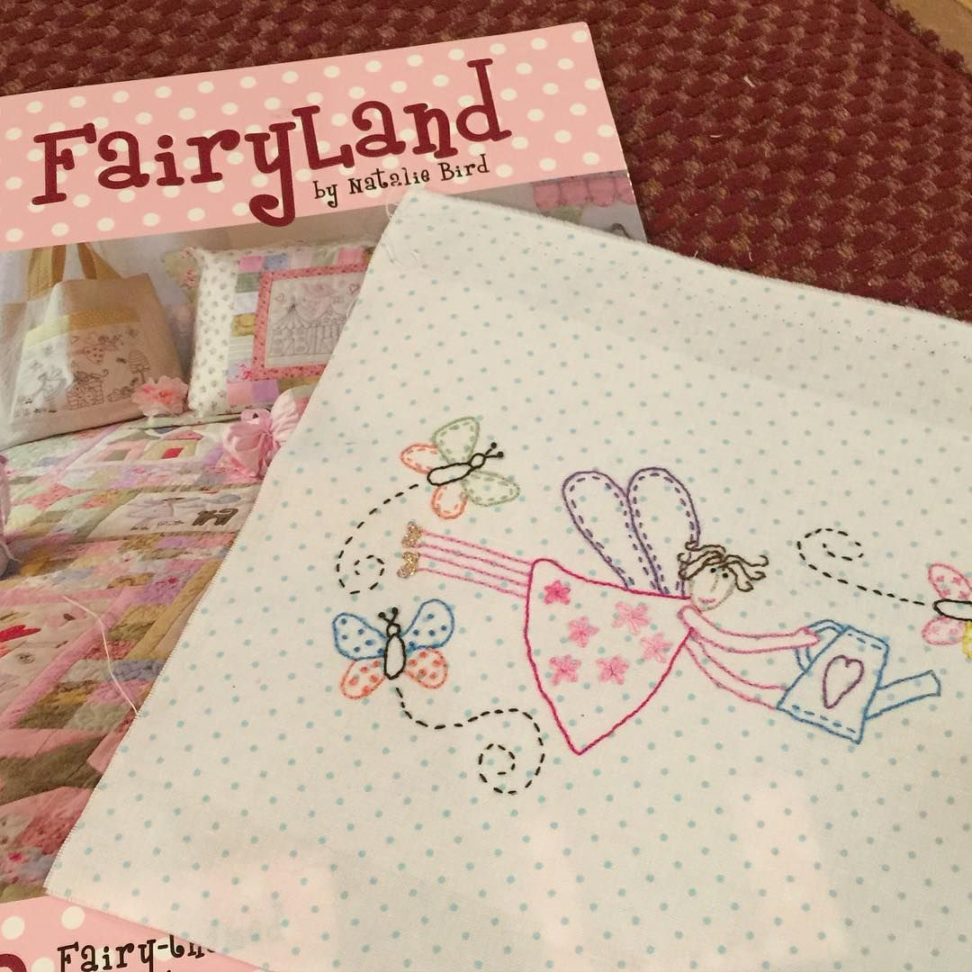 Finished this stitchery. Starting another one. I can order this book if anyone is interested. It's from Australia and 32.00 plus shipping. Half down deposit required with order. It's called Fairyland by Natalie Bird.  #stitchery #embroidery #fairies #daisycottagegoods