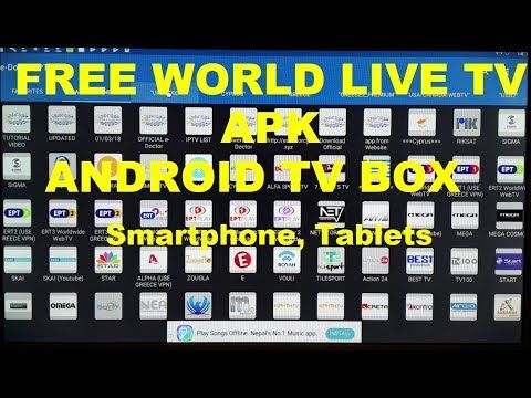 Free World Live TV APK, p2p TV Android TV Box, SmartPhone, Tablets