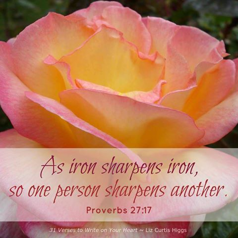 LCH (21) Prov 27 17 | Bible Verses | Bible verse for moms
