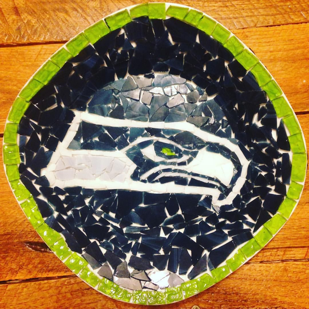 Time to grout!! I love making custom orders! #whosyourteam #handmade #handcrafted #vegas #hendersonnevada #craftfair #etsy #craftfair #craftfair #seattleseahawks #seattle #nfl #seahawks #customorder