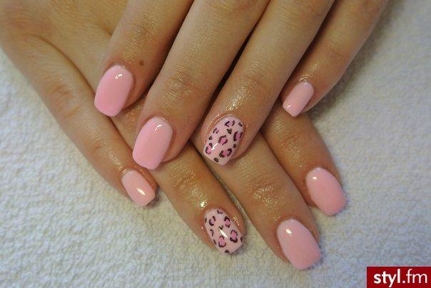Pink & Animal Print. Nice Color  #Fingernails