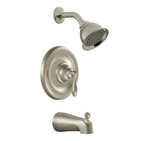 Moen Caldwell Trim Kit Spot Resist Brushed Nickel 1 Handle Tub And