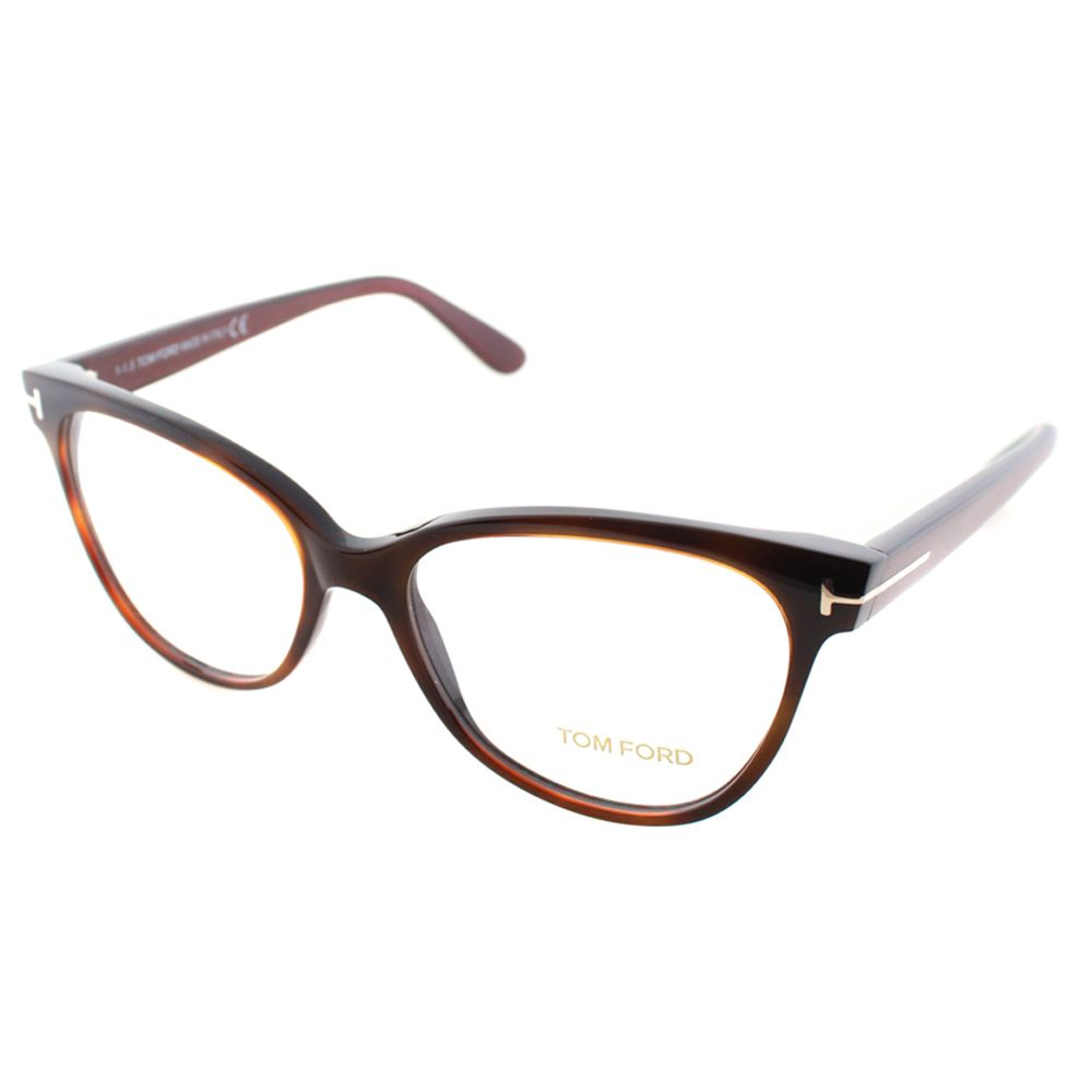 5d9ff05f3fbce Tom Ford Women s Brown Plastic Cat-eye Eyeglasses (Tom Ford FT 5291 ...