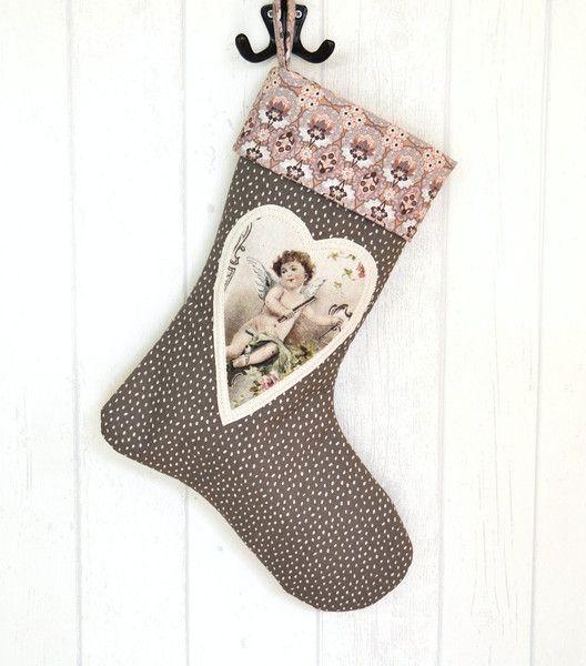 Nikolausstiefel Nr. 2  Shabby Chic Weihnachten von KleinesMau auf DaWanda.com