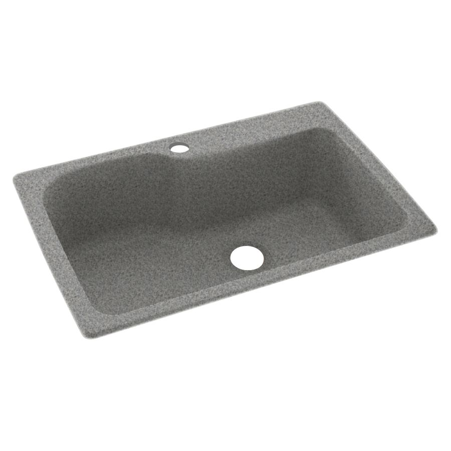 Swanstone 22-In X 33-In Gray Granite Single-Basin Composite Drop-In ...