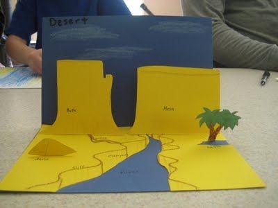 Desert Landscape Pop-up Card