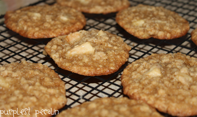 Purplest Pecalin: Oatmeal Apple Cinnamon Cookies