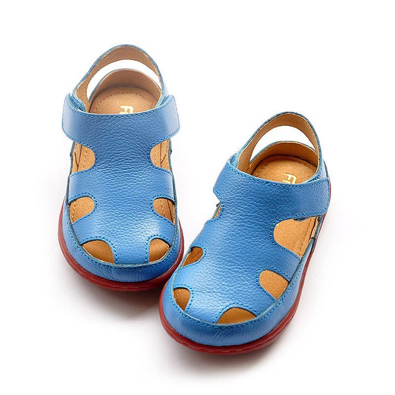 6ab470b1a Top qiality 2016 kids sandals Genuine leather children shoes cutout ...