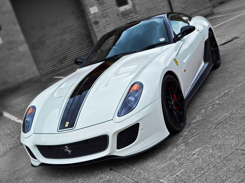 #Ferrari 599 GTO With A Gloss Black Stripe And Paint Protection, See More On
