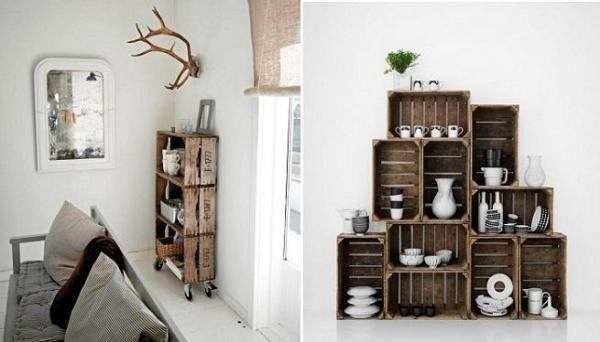 Grands Meubles Avec Des Cagettes De Fruits Idees Deco Decoration