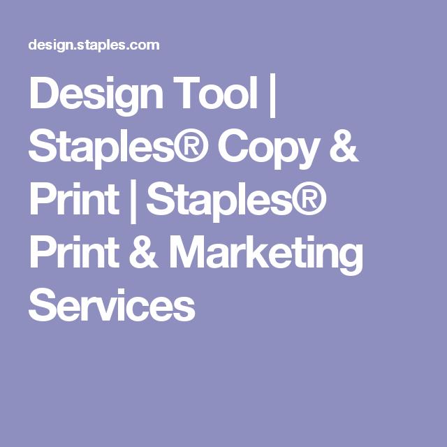 design tool staples copy print staples print marketing