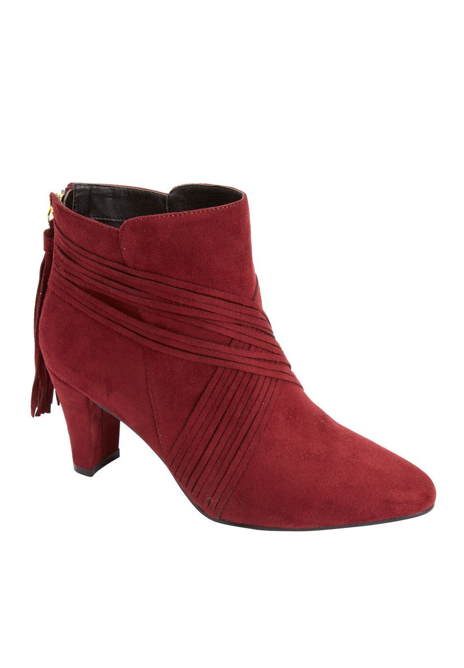 These chic booties feature wrap around detail for a sophisticated and modern look! #fashion #style