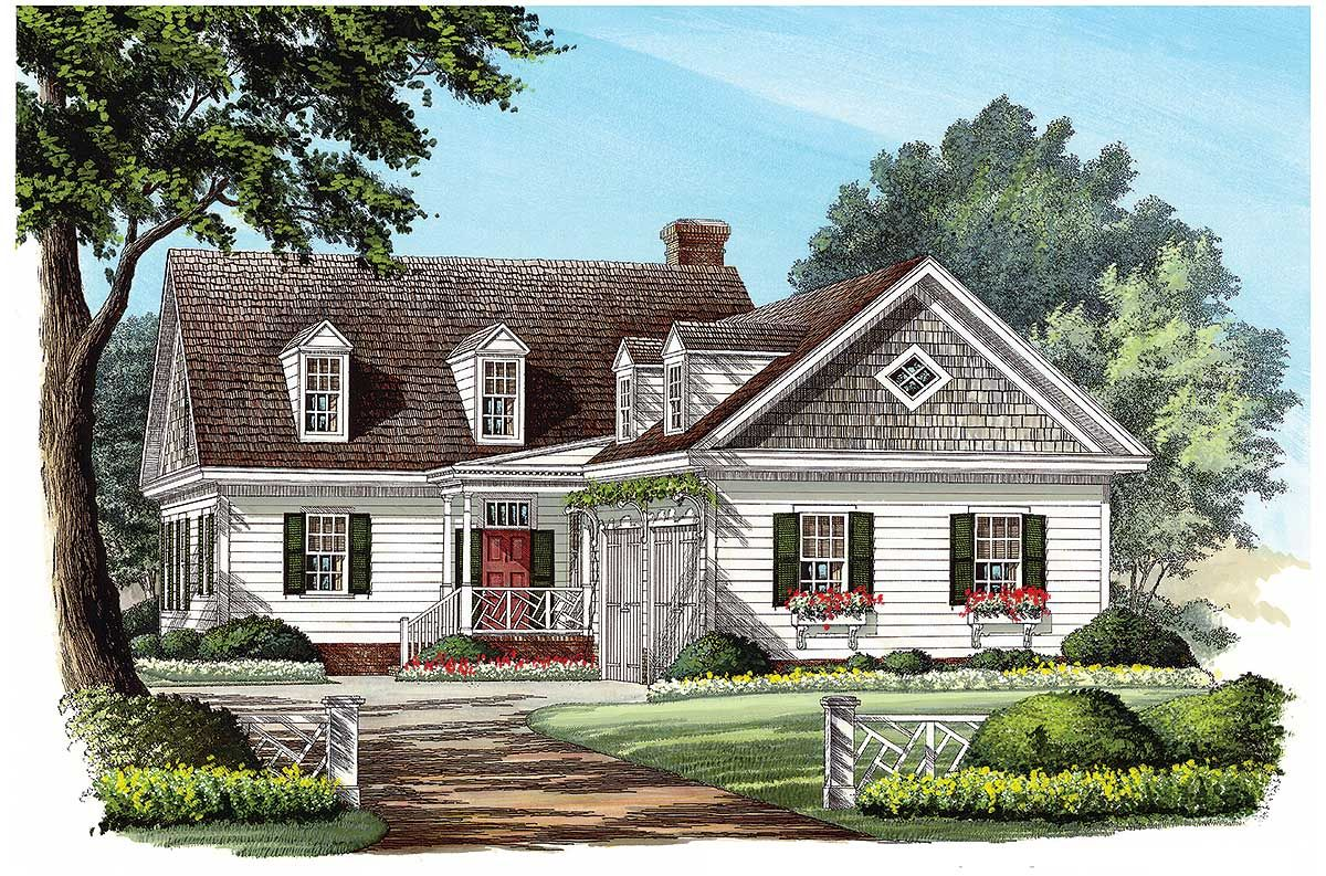 Plan 32598WP: L-Shaped Cape Cod Home Plan | Bonus rooms ...