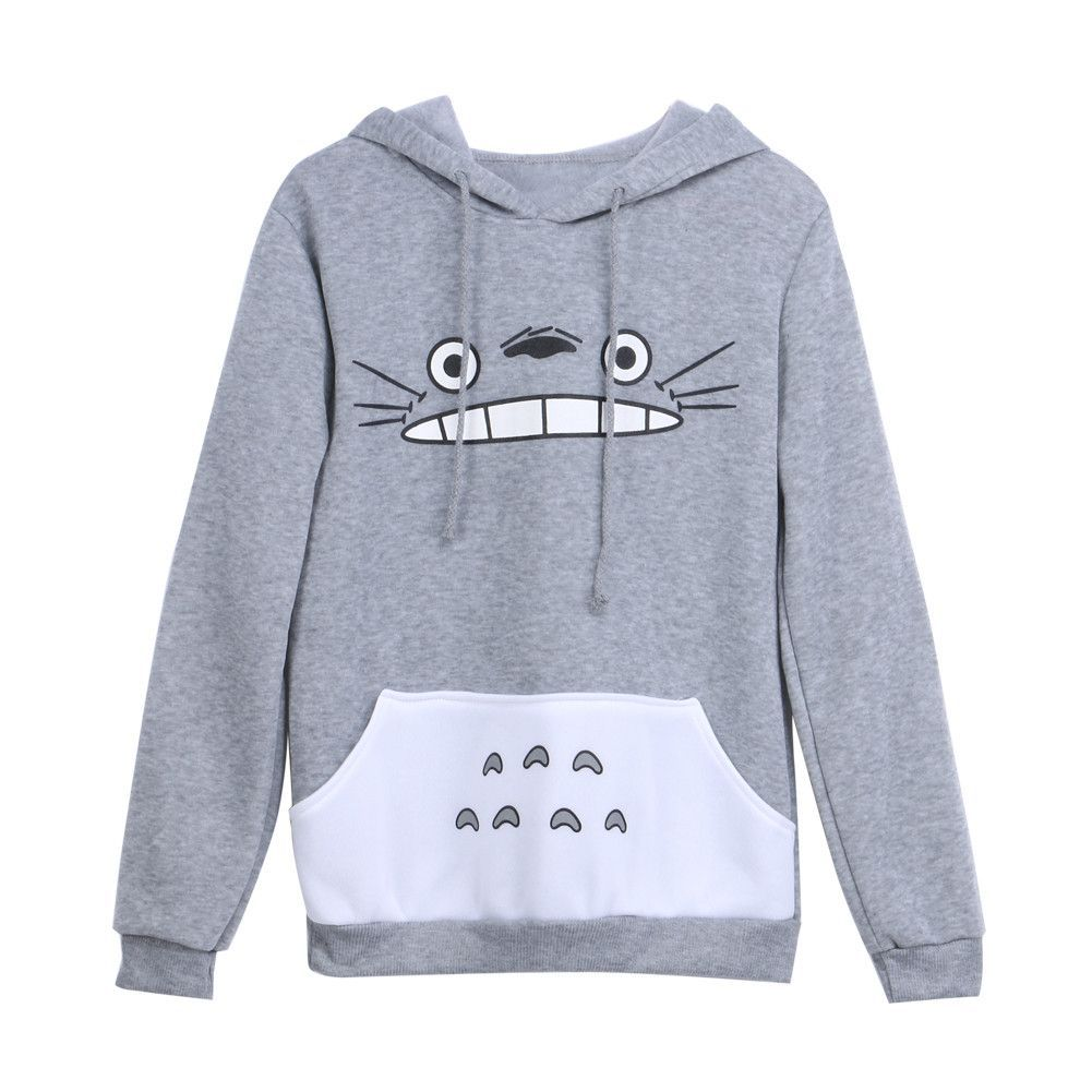 Totoro Pullover Hoodie Sweatshirts Hoodie Hoodies Womens Sweatshirts [ 1001 x 1001 Pixel ]