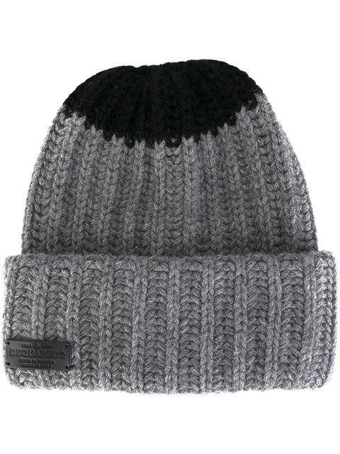 fda77e98 DSQUARED2 contrast knit beanie. #dsquared2 #beanie | Dsquared2 Men ...
