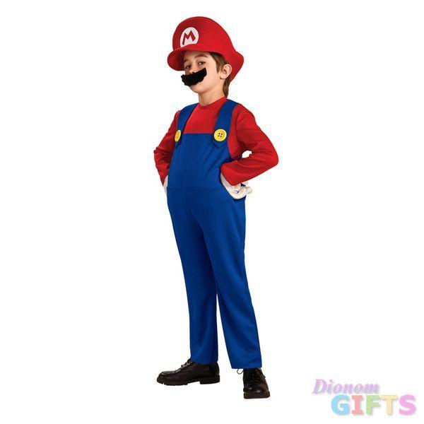 Boy's Costume: Super Mario Deluxe Large 12-14