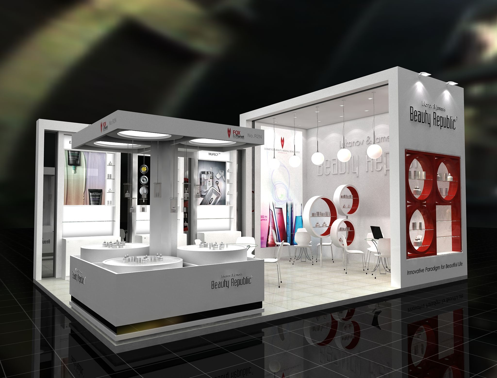 Cosmetic Exhibition Stand Design : Beauty republic exhibition design booth