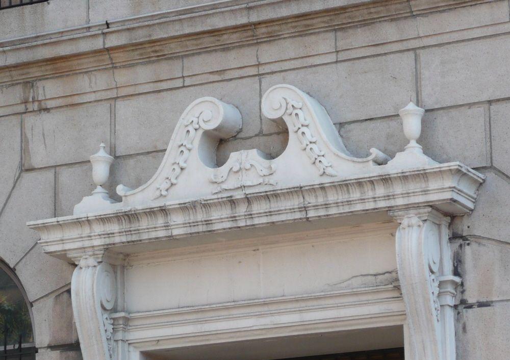 Sawn Neck Pediment   Pediment, Architecture, Glossary