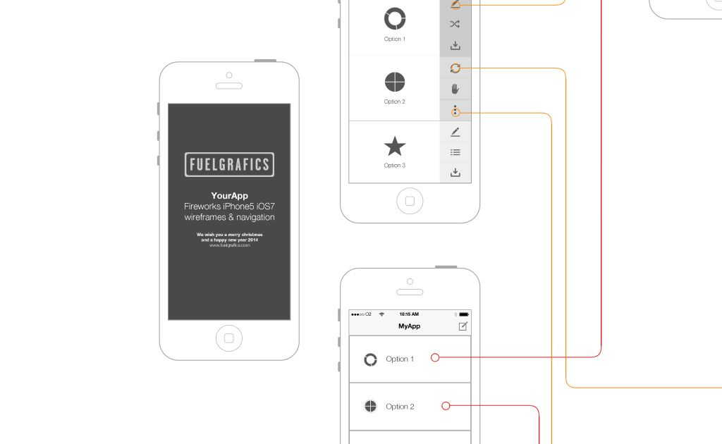 IPhone 5 IOS7 UI Wireframe Kit Adobe Fireworks Information Architecture Ios 7 Png
