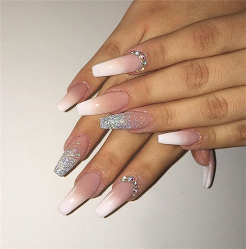 45 Beautiful Nail Art Designs For Ombre Nails Nail Art Connect Ombrenails Coffinnails Ombre Nails Glitter Pink Ombre Nails Ombre Nails