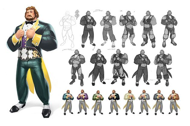 Mecha Mcmahon Concept Art By Rich Lyons For A Wwe