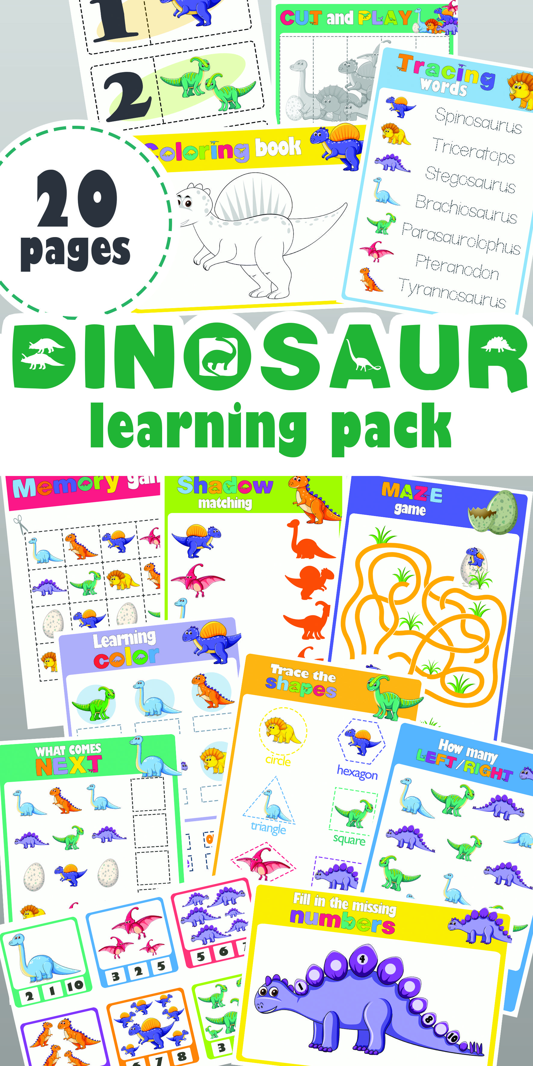 Dinosaur Learning Pack