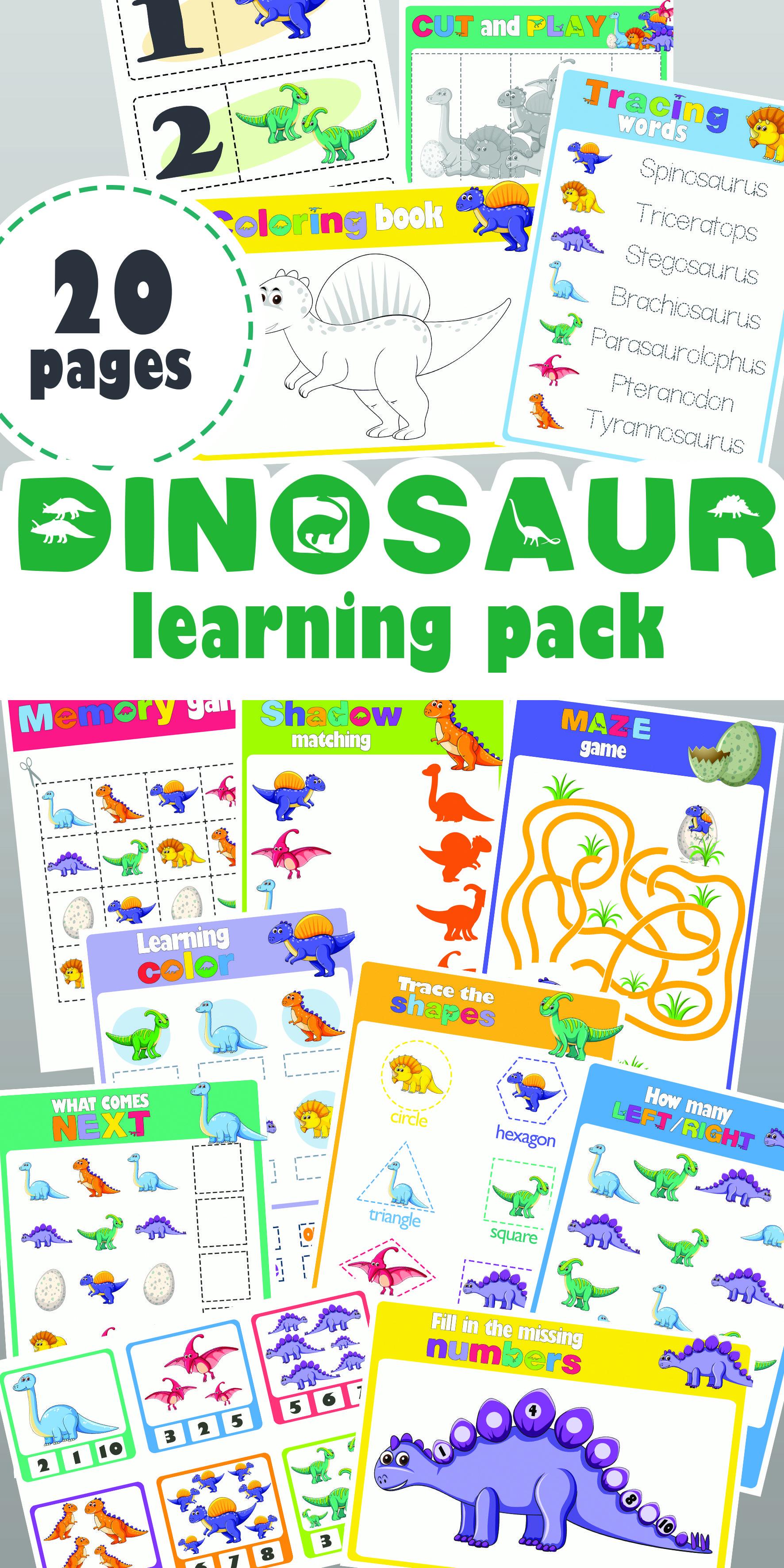 Dinosaur Learning Pack