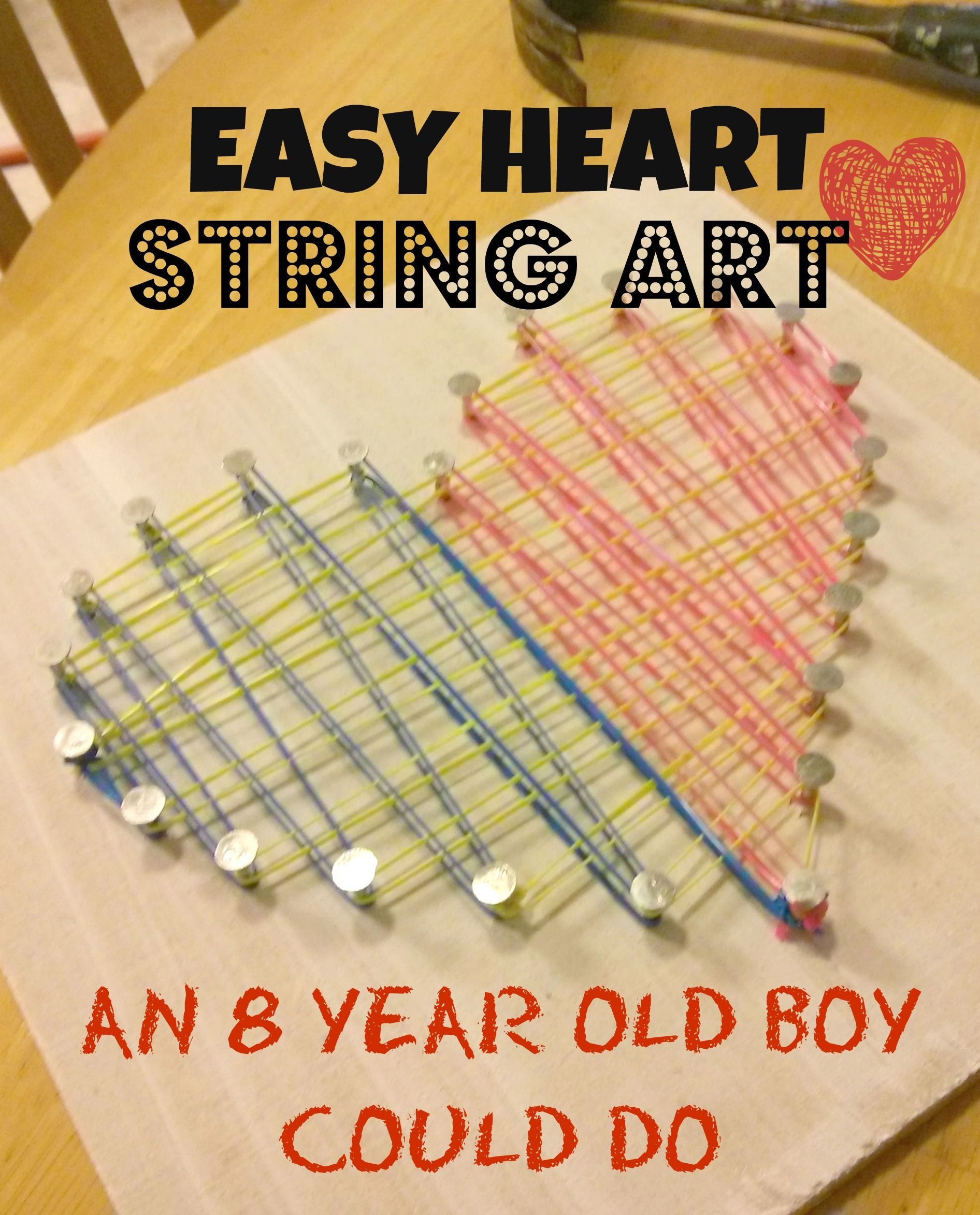 What A Fun Idea For An Easy Cheap Craft Even An 8 Year Old Boy
