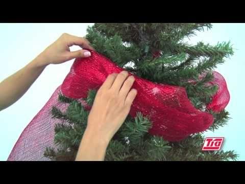 Todo Es Más Fácil Con Tía Cómo Decorar Tu árbol De Navidad árbol De Navidad Malla Decoracion Arbol De Navidad Cinta De árbol De Navidad