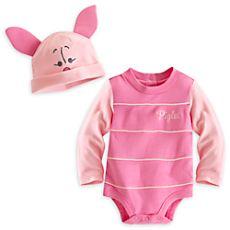 Piglet Bodysuit Costume Set for Baby - Personalizable  741c3807460d