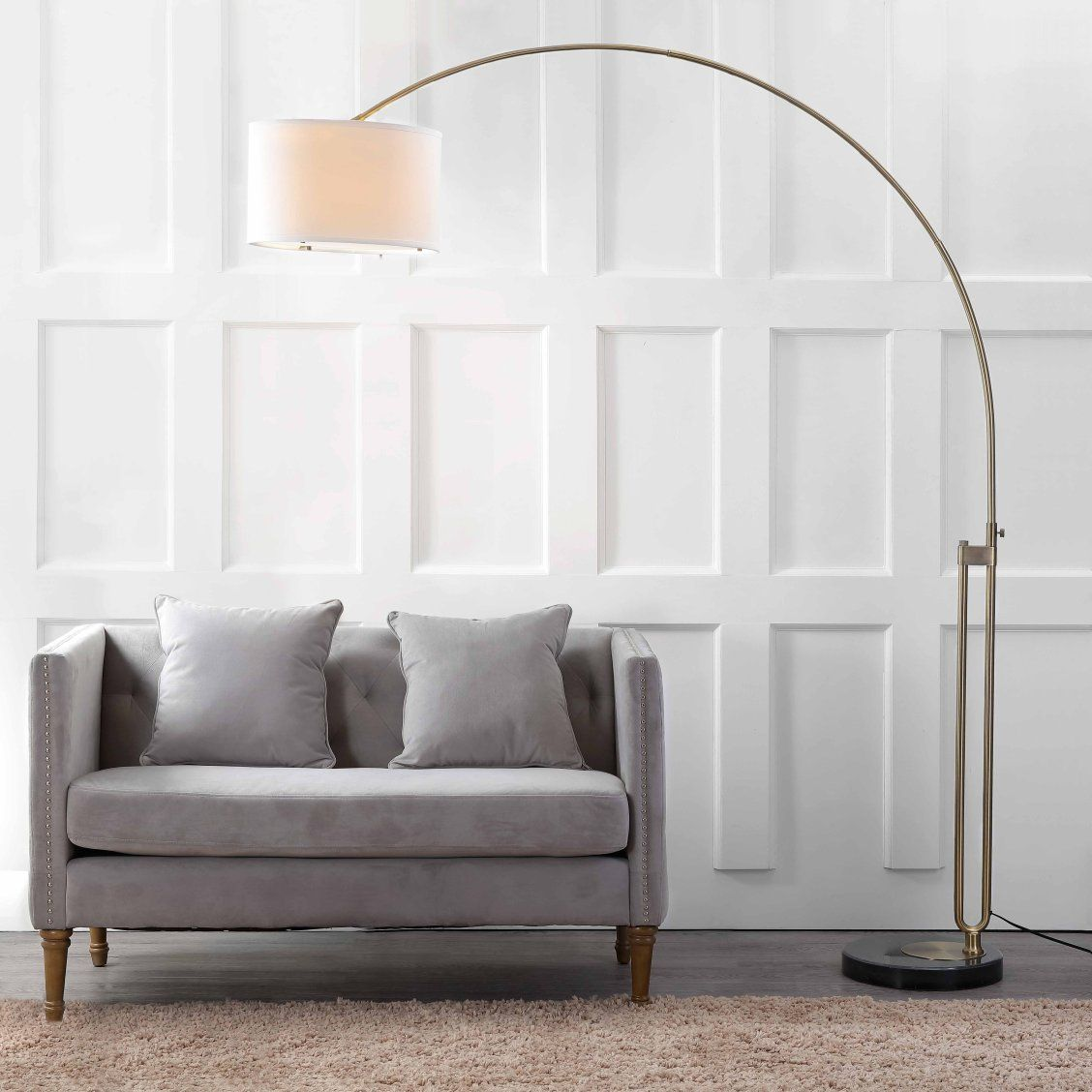 Eloquent In Its Expression Of Pure Geometry This Dramatic Arc Floor Lamp Moves With Ease From Tr Arc Floor Lamps Modern Arc Floor Lamp Floor Lamps Living Room #pole #lamps #for #living #room