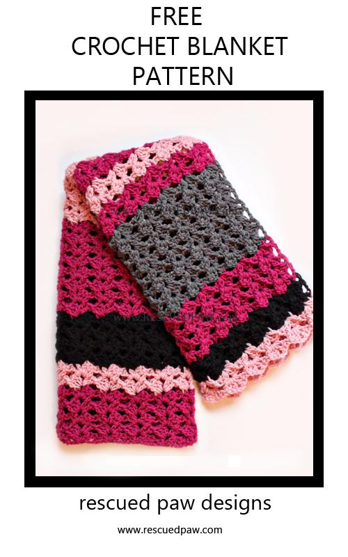 Simple Crochet Blanket Pattern: The Elise | Manta, Puntos crochet y ...