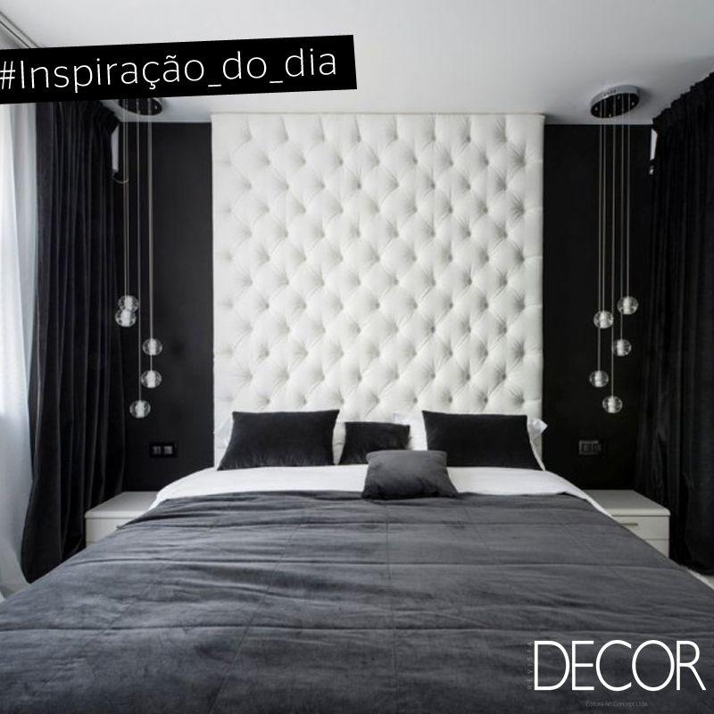 Preto branco e cinza so as cores em destaque neste dormitrio A
