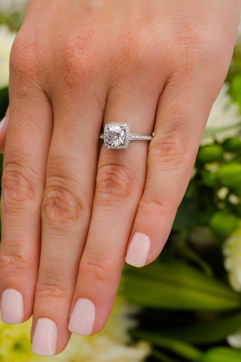 Furrer Jacot Lucienne Diamond Halo Platinum Semi Mount Ring Diamond Engagement Rings Halo Diamond Luxury Wedding Rings