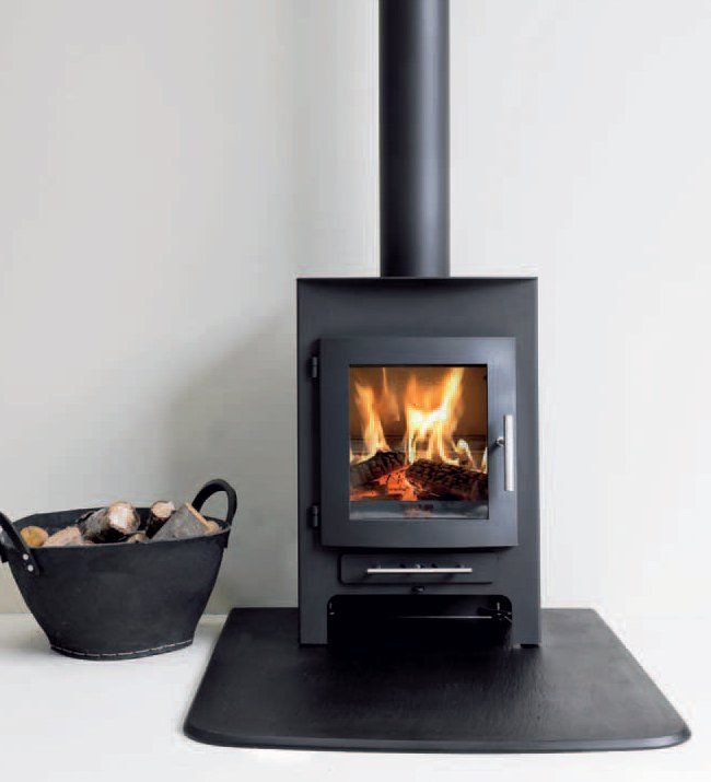 Hunter Herald 14 Double Sided, Single Depth Wood Burning Stove - Hunter Herald 14 Double Sided, Single Depth Wood Burning Stove
