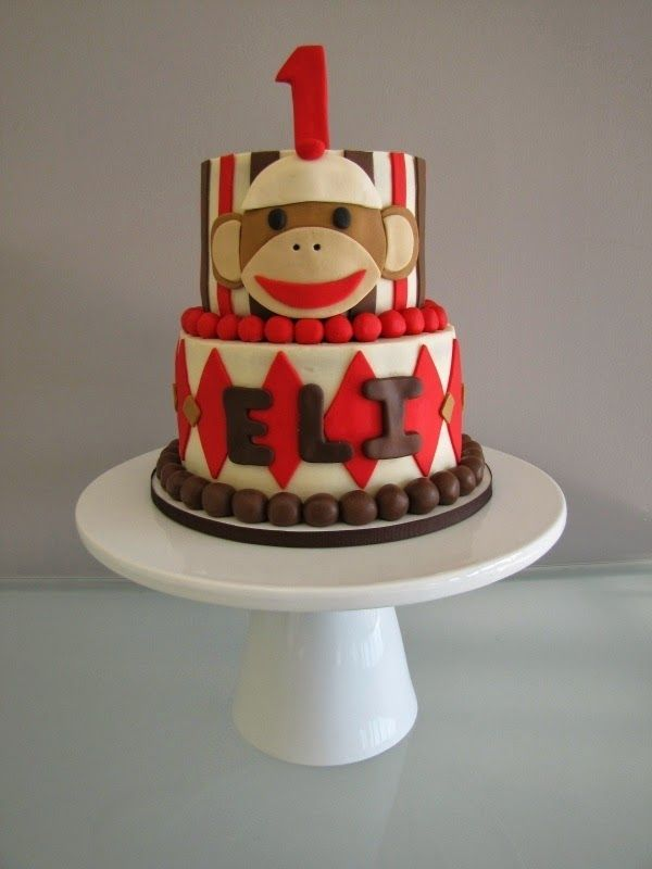 Superb My Son Would Love This Cake Sock Monkey Birthday Cake Monkey Funny Birthday Cards Online Barepcheapnameinfo
