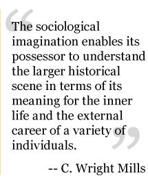 sociological imagination applied to real life essay Compare and contrast the sociological perspective and sociological imagination, give examples of each using real life experience sociological perspective has two key aspects according to shepard which include the interaction between social structure and the individual and the idea of two levels of analysis (3.