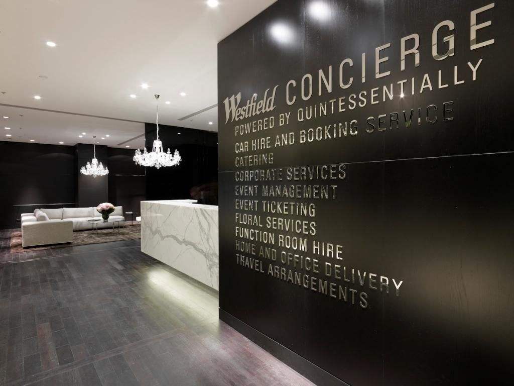 Private Concierge Services Lounge in Sydney Westfield