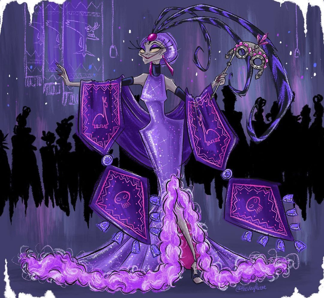 """The Vinyl Scene on Instagram: """"�� Yzma �� . Disney Villains Designer Collection Midnight Masquerade Series fanmade by @thevinylscene . Because bad guys have more fun! . .…"""""""