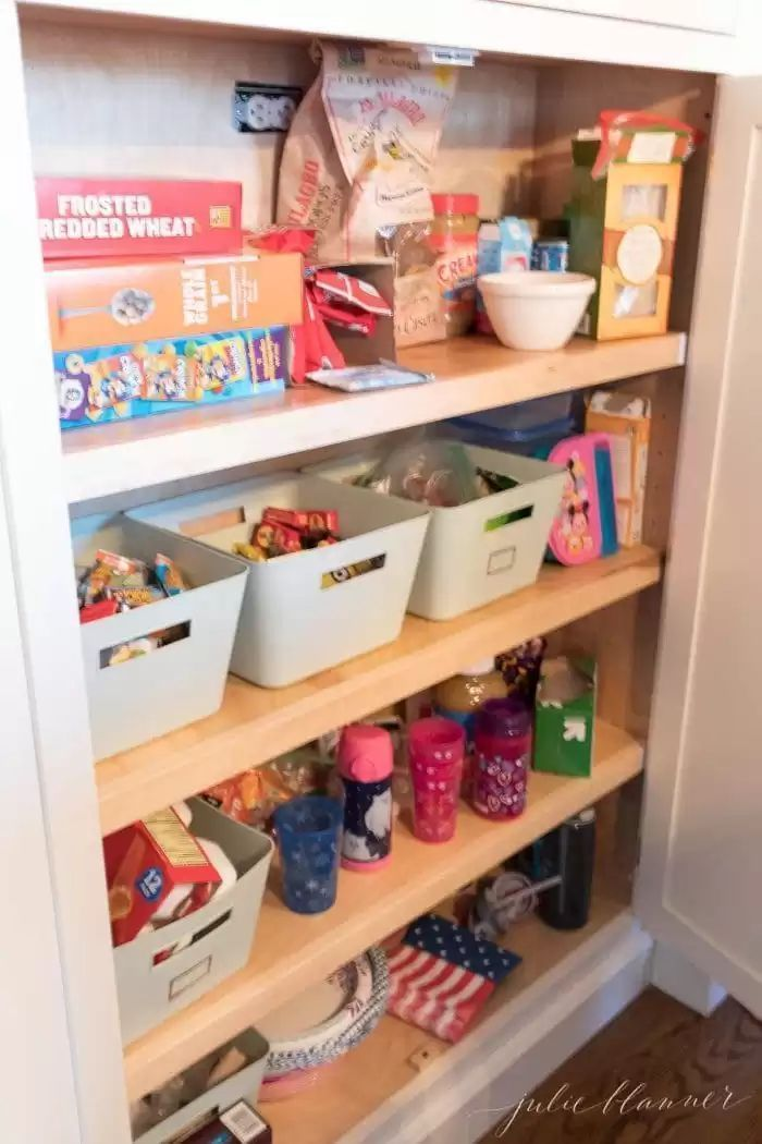 kitchen pantry how to organize your pantry cabinet in 2020 pantry cabinet pantry storage on kitchen organization before and after id=73030