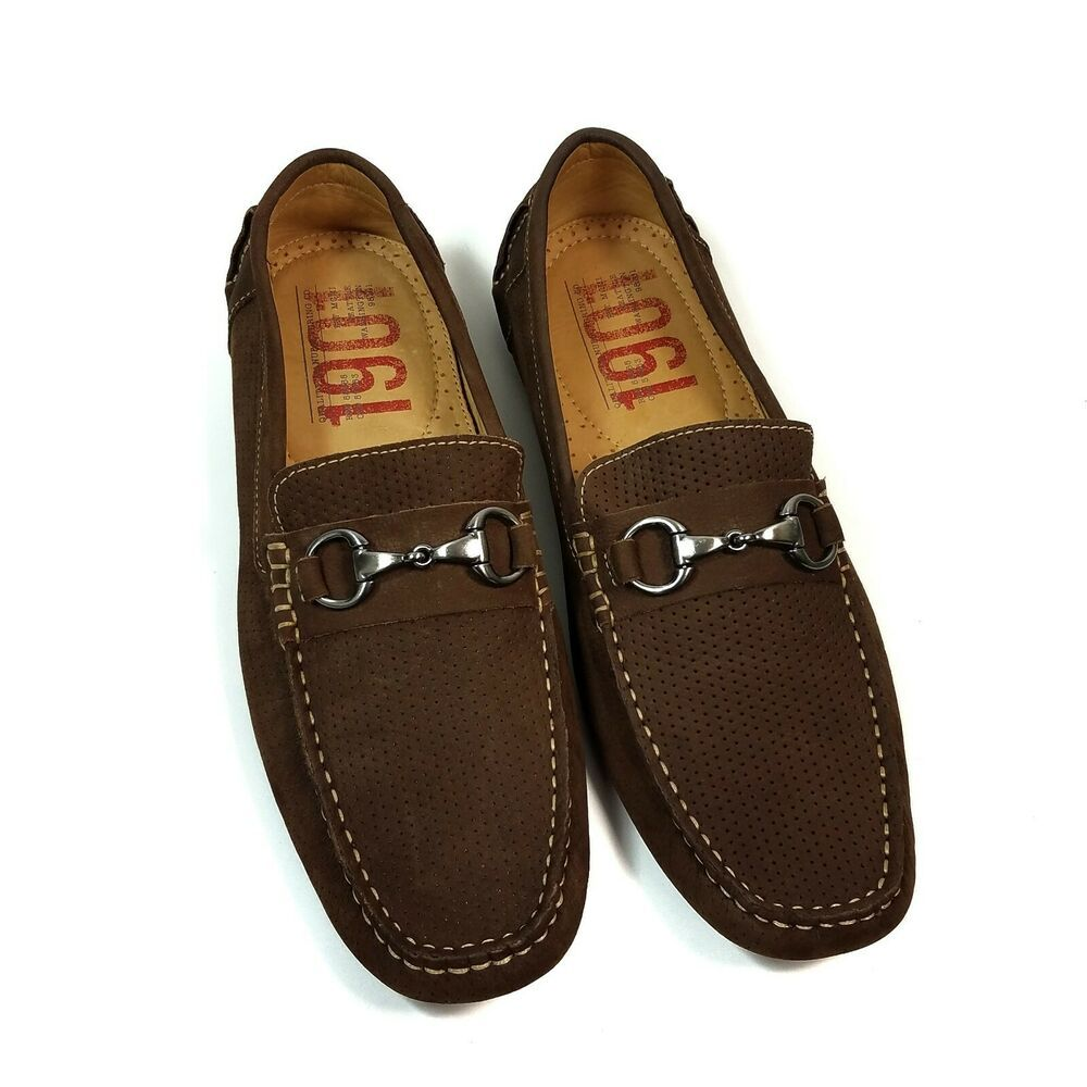 1901 Mens Brown Driving Moccasins Shoes