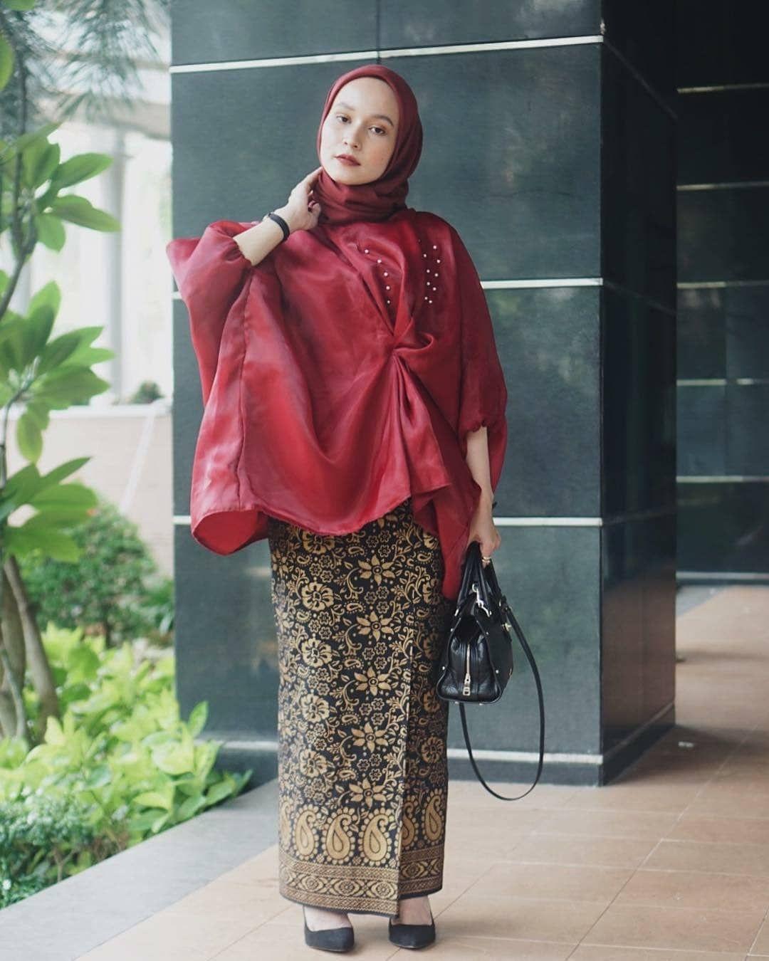 Model Kebaya Batik Modern (Simple, Hijab, Muslim, untuk ...