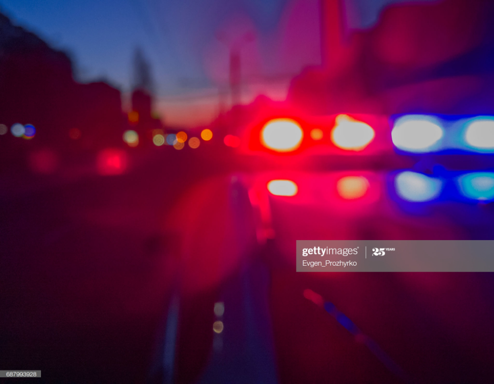 Red And Blue Lights Of Police Car In Night Time Night Patrolling The In 2020 Police Lights Night Red And Blue Night Time
