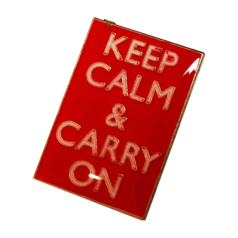 """""""Keep Calm & Carry On"""" British, London, England UK Lapel Pin Souvenir #keepcalmandcarryon"""